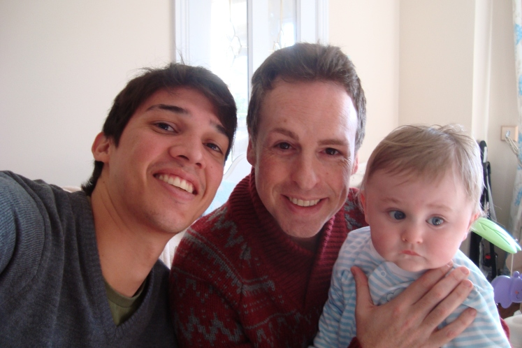 Eu, John e seu filho, Daryl.