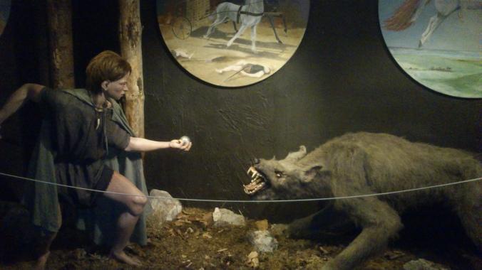 """Esse pequeno """"vestido"""" de hobbit venceu esse lobo."""