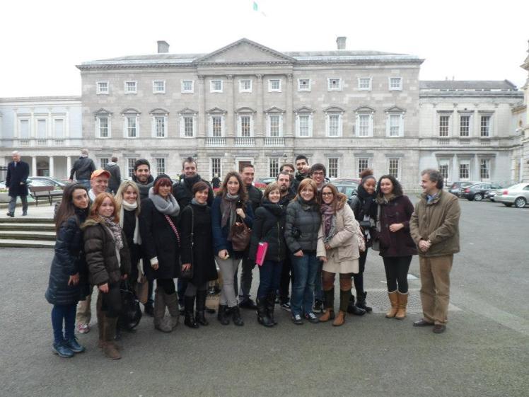 Leinster House e galera da Arena