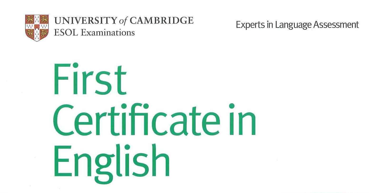 FCE Cambridge First Certificate In English Livin La VidaRick