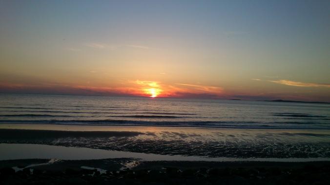 Pôr-do-sol às 22h
