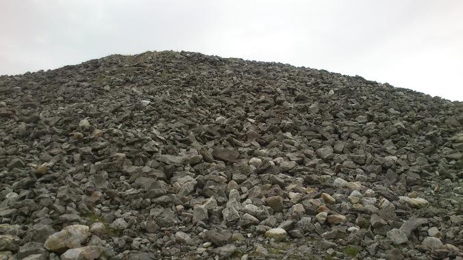 Montanha de pedras no topo da montanha
