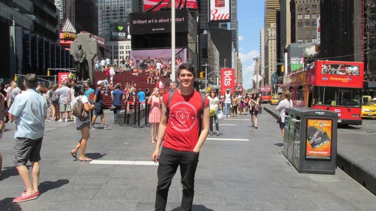 Eu na Times Square