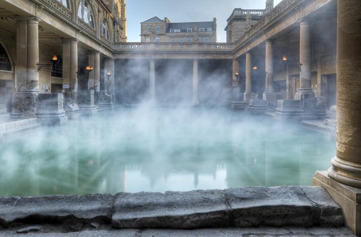 Roman baths em Bath