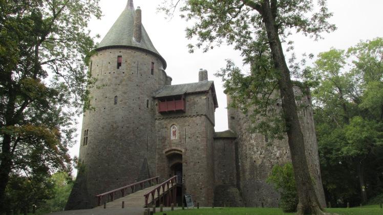 Castell Coch - entrada do castelo