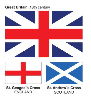 Primeira bandeira da Grã-Bretanha