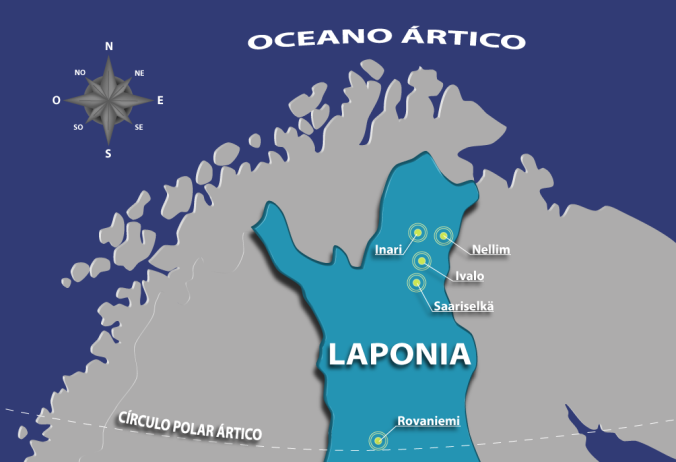Rovaniemi, no mapa