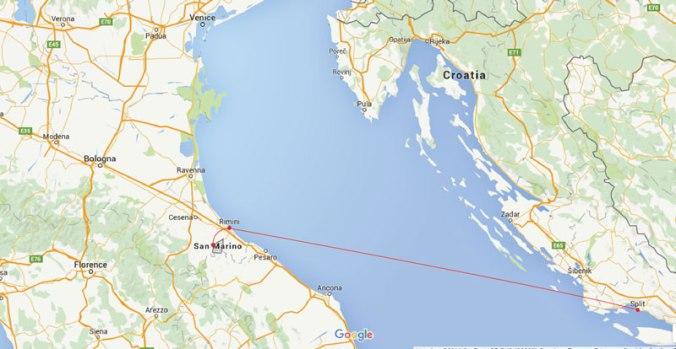 Itália, San Marino e Croácia
