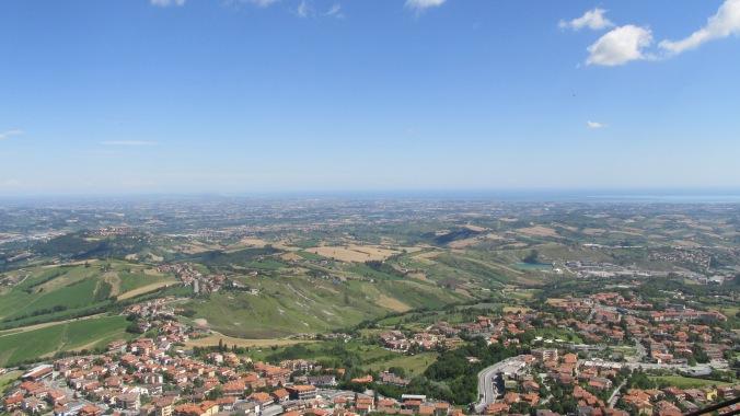 Vista do topo de San Marino