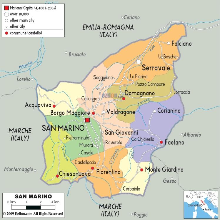 Mapa de San Marino