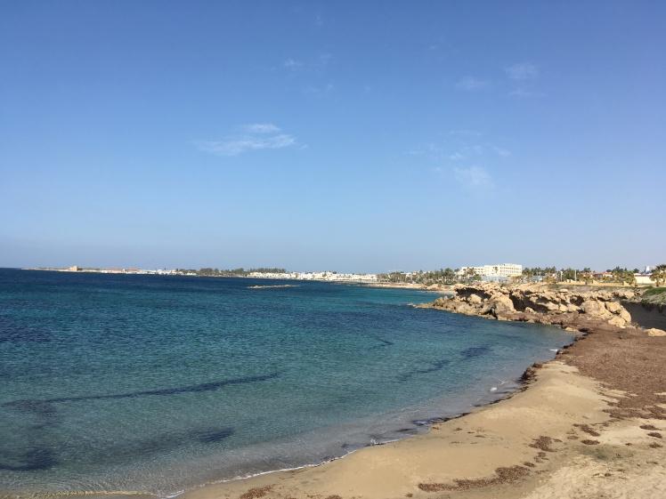 Praia de frente pro hotel