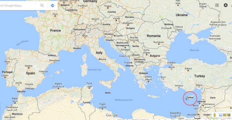 Chipre (Cyprus) - ponto vermelho